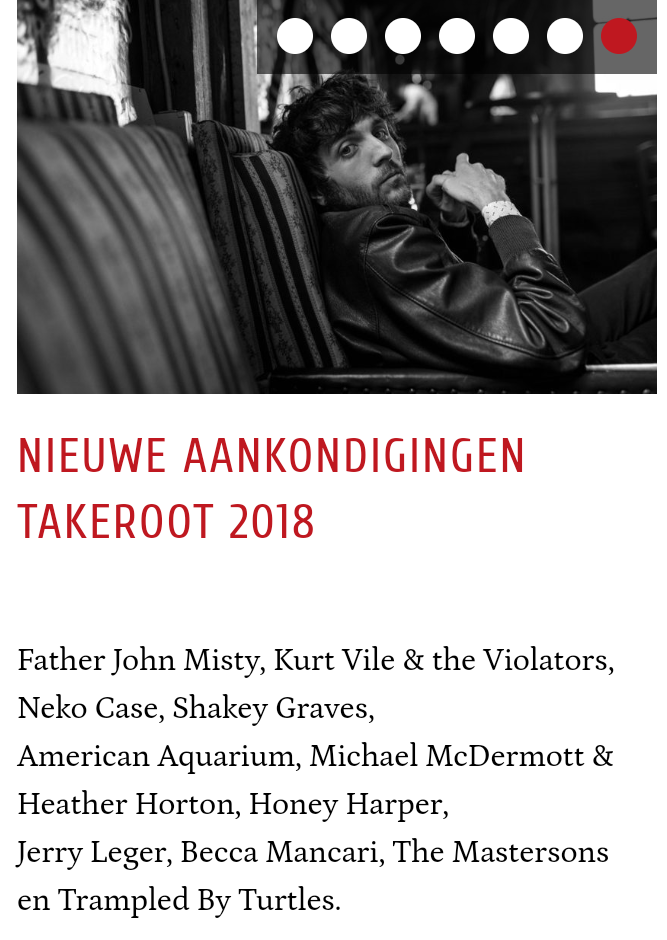 Take Root Festival – Groningen, Netherlands (20:30 set time)