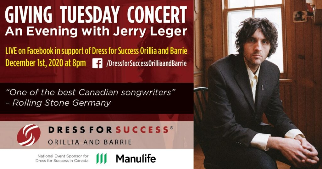 Giving Tuesday (live stream) Concert - Fundraising event for Dress For Success Orillia & Barrie