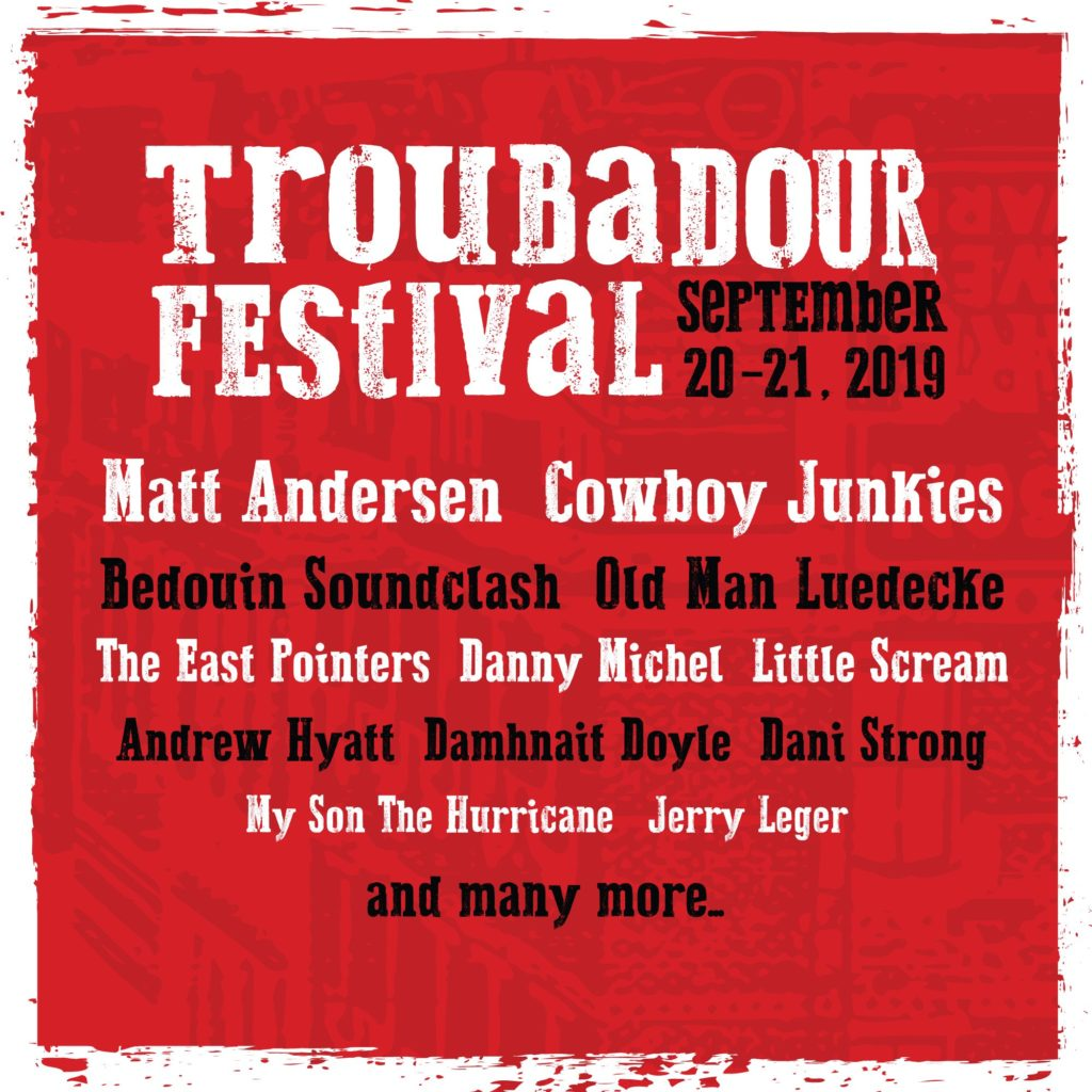 Troubadour Fest – Barrie, ON (venue & set time TBA)